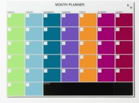 Naga Magnetic Glass Month Planner 60 x 80cm