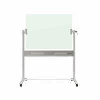 Nobo Brilliant White Glass Mobile Noticeboard