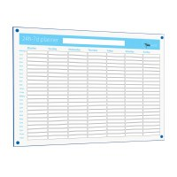 Non-magnetic 24 Hour - 7 Day Planner 600 x 900mm Blue Edge