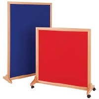 Wood mobile noticeboards