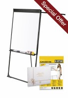 Bi-Office Vanguard Footbar Flipchart Easel