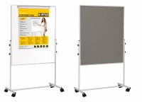 Bi-Office Duo Mobile Easel 1200 x 700mm