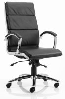 Classic Executive Leather Chair Black High Back