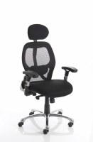 Sanderson Executive Chair Black Airmesh Seat Black Mesh Back