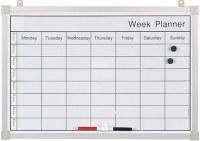 Bi-Office Magnetic Weekly Planner 600 x 400mm