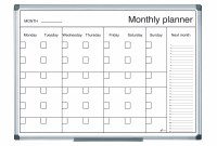 Bi-Office Magnetic Monthly Planner 900 x 600mm
