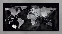 'Artverum' World Map Magnetic Glass Board