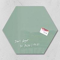 'Artverum' Glass Board Hexagon SMOKY GREEN