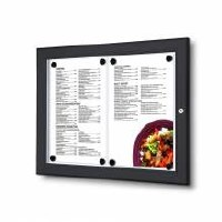 Outdoor Lockable Menu Case 2 x A4 RAL 9005