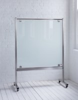 MOBIGLASS Freestanding Mobile Glass Wipe Boards