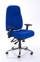 Barcelona Plus Task Operator Chair Blue Fabric