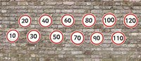 Road Signs - Pack of 12