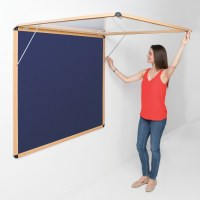 Shield Wood Effect Alu Frame Eco-Colour Corridor Tamperproof Noticeboards