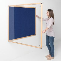 Shield Wood Effect Alu Frame Eco-Colour Tamperproof Noticeboards
