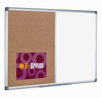 Bi-Office Combi Magnetic Drywipe/Cork Boards