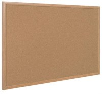 Bi-Office Cork Boards Oak Effect Frame