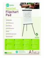 Bi- Office 'Earth-It' A1 Plain Flipchart Pad Pk 5