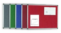 Bi-Office Felt Noticeboards Aluminium Frame