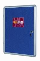 Bi-Office Lockable Felt Noticeboard Display Cases