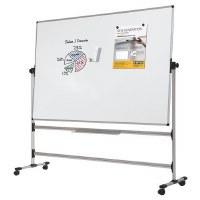 Bi-Office Mobile Whiteboard Plain Drywipe to both sides 1200 x 900mm