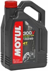 Motul Oils 300V 15W50 4L