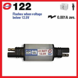 Optimate Battery Warning Light