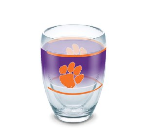 Clemson Tigers Tervis 9oz Stemless Wine Tumbler