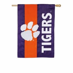 Clemson Tigers Applique Home Flag