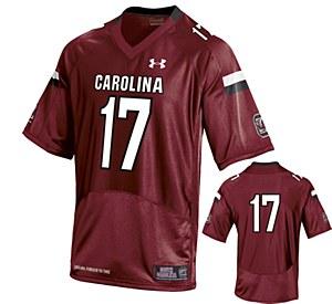 South Carolina Gamecocks #17 Thompson Jersey GARN XL