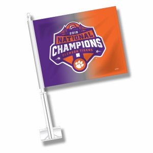 Clemson Tigers 2018 National Champs Car Flag