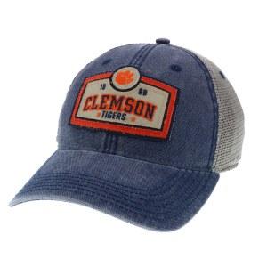 Clemson Tigers 1889 Patch Navy Trucker Hat