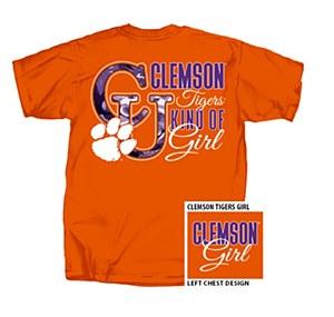 Clemson Tigers Kinda Girl T-Shirt SMALL