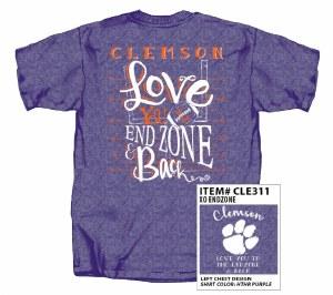 Clemson Tigers XO Endzone T-Shirt SMALL