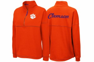 Clemson Tigers Ladies 1/2 Zip Pullover SMALL