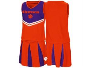 Clemson Tigers Youth Girls Pom Pom Cheer Set YL