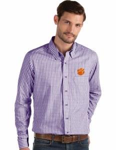 Clemson Tigers Men's Full Button Down Shirts X-LARGE