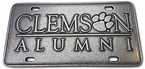 Clemson ALUMNI Raised Letters Pewter Plate