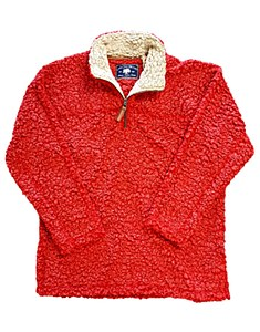 Cranberry Sherpa Pullover Fleece X-SMALL