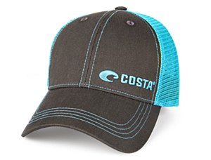 Costa Del Mar Neon Blue Trucker Hat