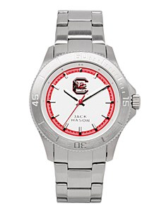 South Carolina Gamecocks Men's Silver Dial Watch