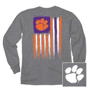 Clemson Tigers Flag Long Sleeve Tee X-LARGE