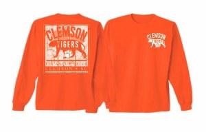 Clemson Tigers Vintage Frame Long Sleeve Tee SMALL