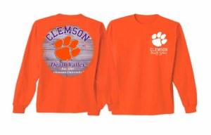 Clemson Tigers Wooden Circle Long Sleeve Tee MEDIUM