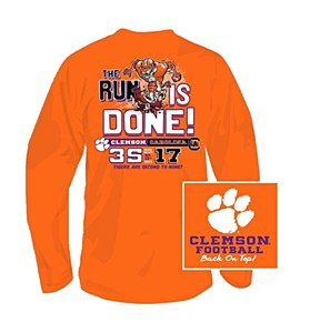 "Clemson Tigers ""Run is Done!"" 2014 T-shirt"