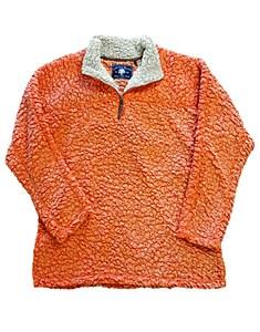 Orange Sherpa Pullover Fleece MEDIUM