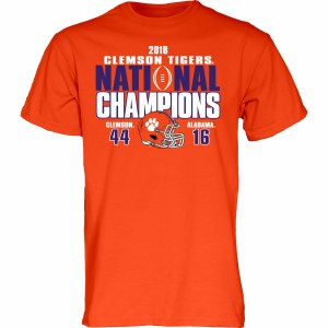 Clemson Tigers 2018 National Champs Score Shirt SMALL