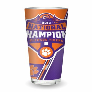 Clemson Tigers 2018 National Champs Pint Glass