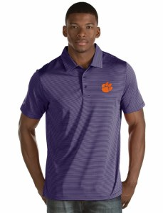Clemson Tigers Men's Striped Polo LARGE