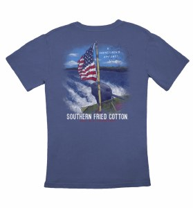 Southern Fried Cotton Waves of Freedom T-Shirt SMALL