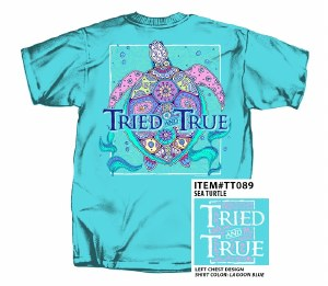 Tried & True Sea Turtle T-Shirt SMALL